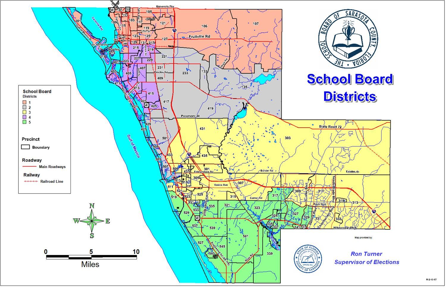 School Board Districts