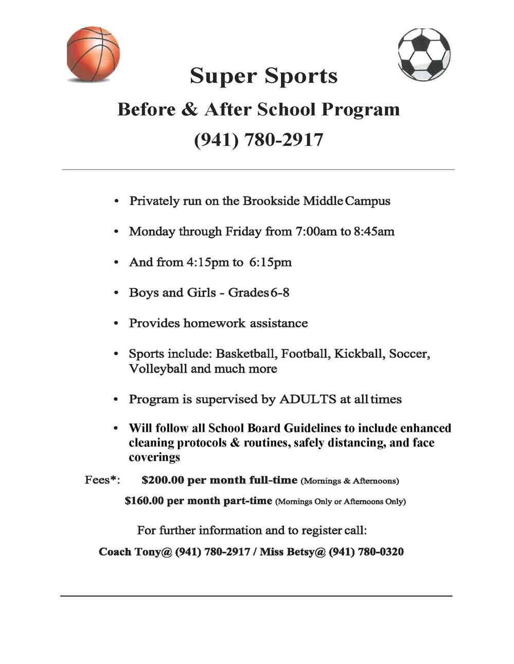 Super Sports Before/After School Program