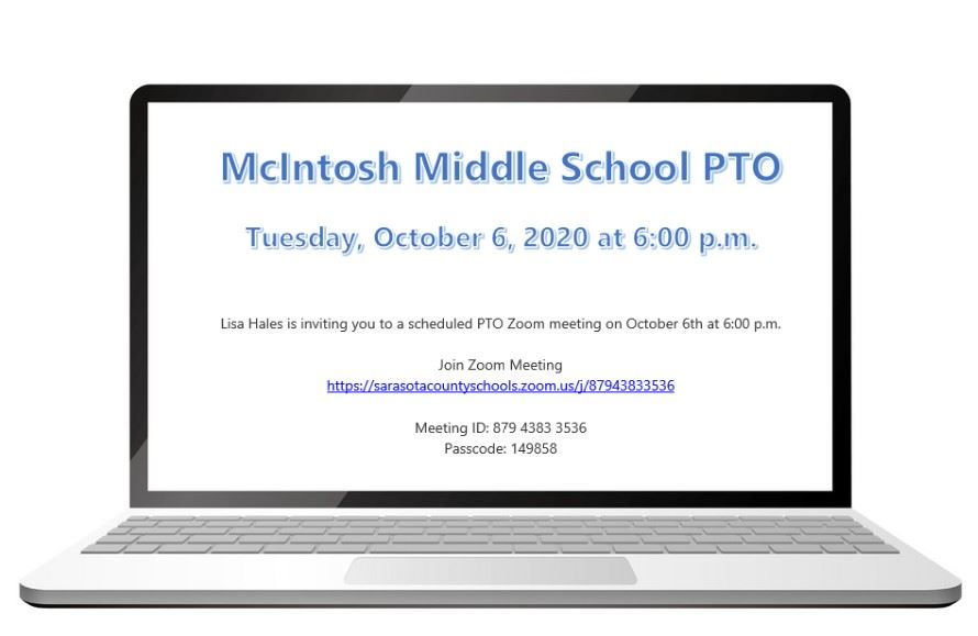 McIntosh Middle PTO Meeting
