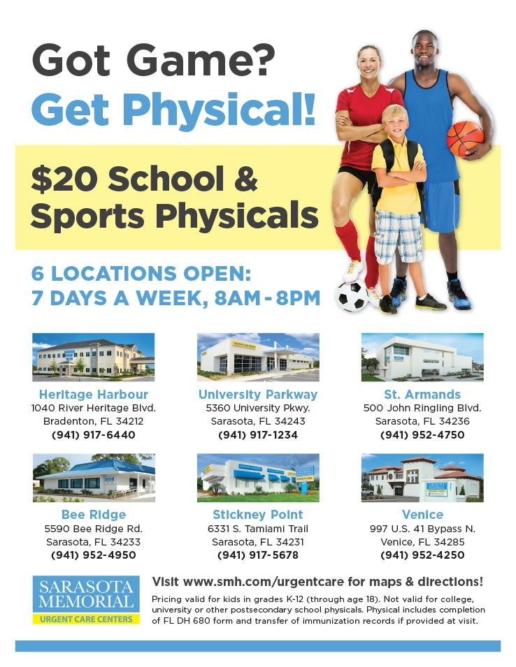 SMH $20 School/Sports Physicals