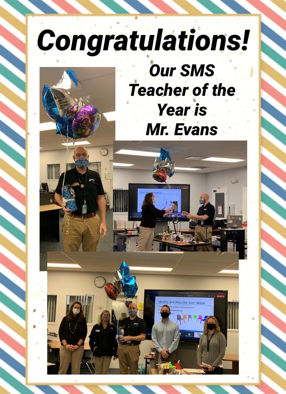 2020 Teacher of the Year, Mr. Michael Evans