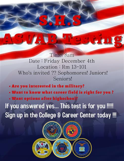 ASVAB Test December 4th!