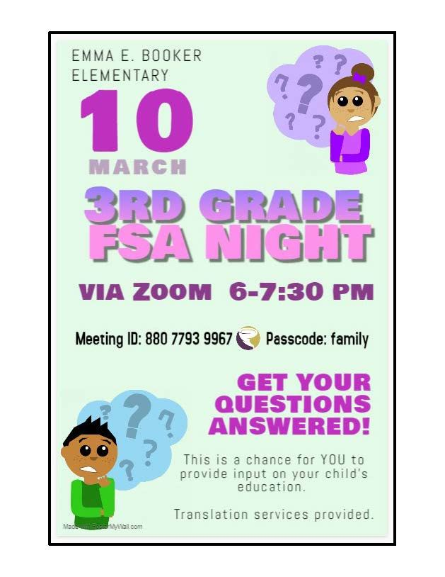 Family Engagement Night for 3rd grade