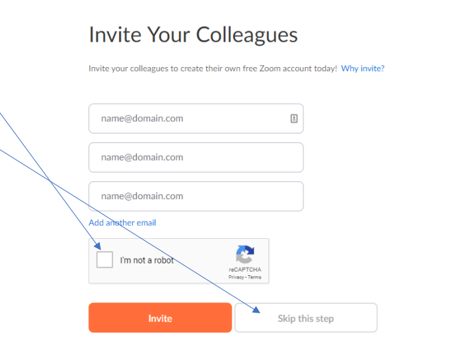 Zoom Invite your Colleagues