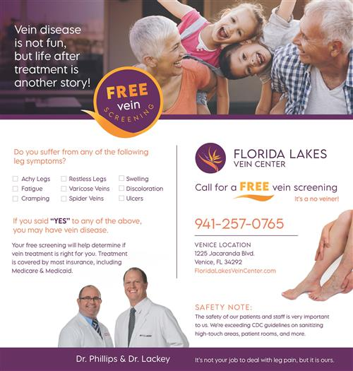 Florida Lakes Vein Center Flyer