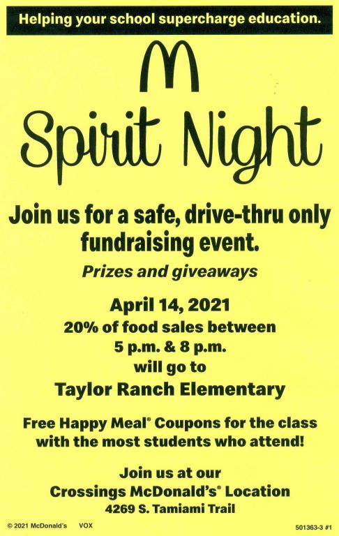 McDonalds Spirit Night
