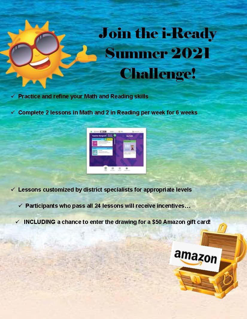 iReady Summer Challenge!
