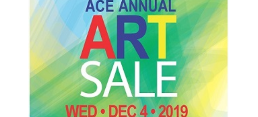 text announcing ACE Art Sale with December 4 date