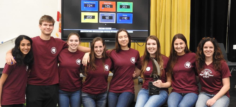 2019 Riverview High School Academic Olympics team