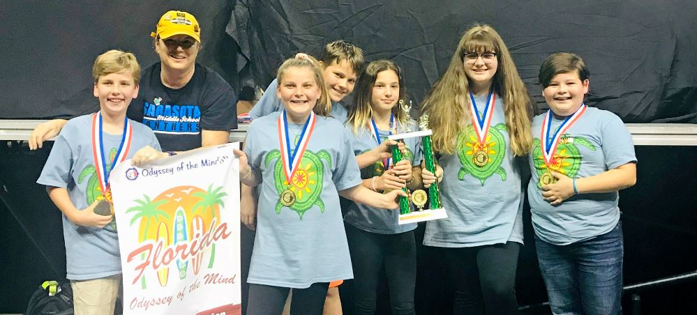 Sarasota Middle Odyssey of the Mind team