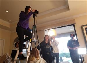 2019 Booker VPA SKing 2 - Rosalea Wolff gets just the right angle during a film shoot