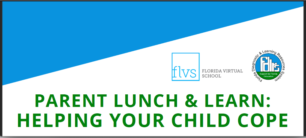 FDLRS parent lunch and learn about helping children cope with stress of COVID-19