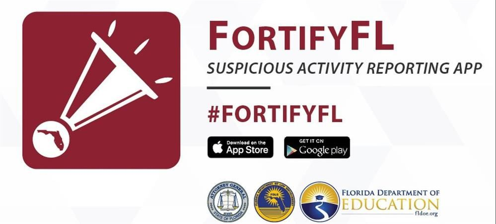 Sarasota County Schools Encourages Students to Use the Newly Created FortifyFL APP to Report Suspicious Activity