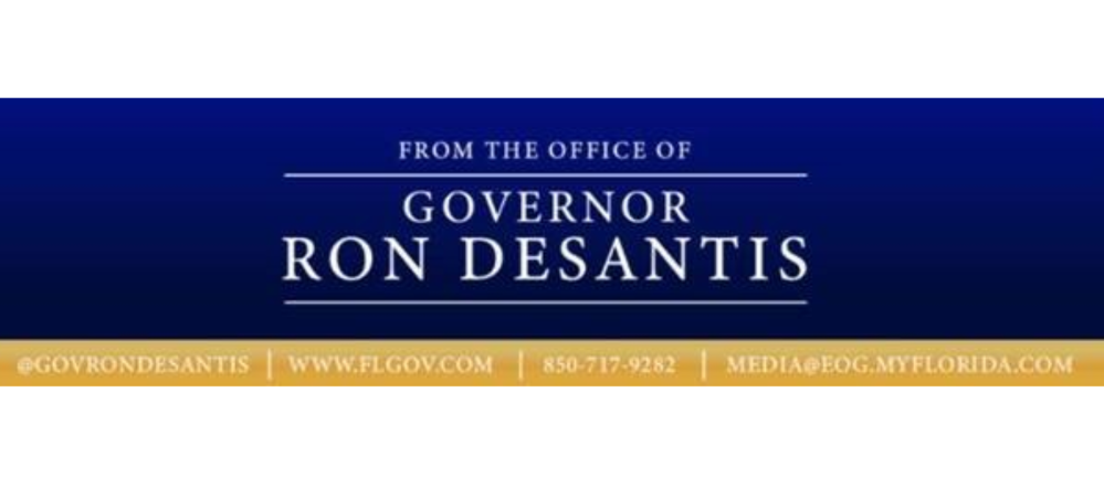 Governor Ron  DeSantis' logo announcing an Executive Order