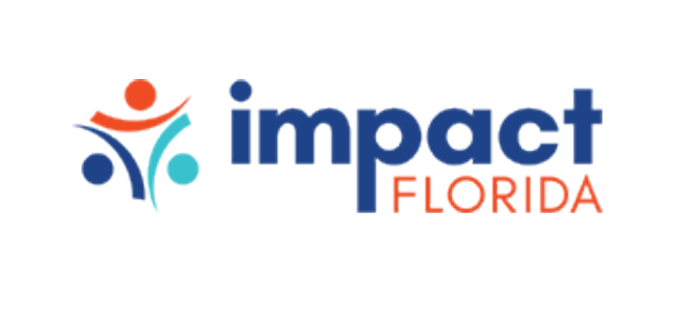 Text logo for Impact Florida