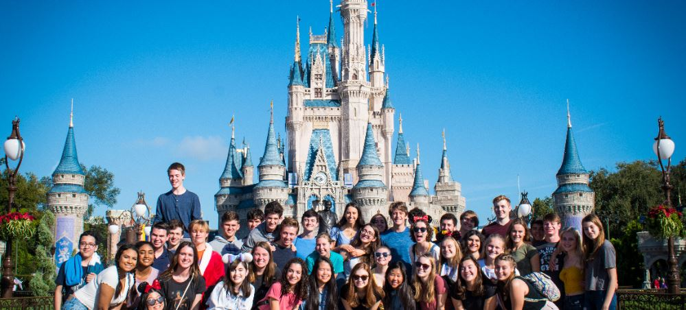 Pine View chorus students at Disney's Magic Kingdom