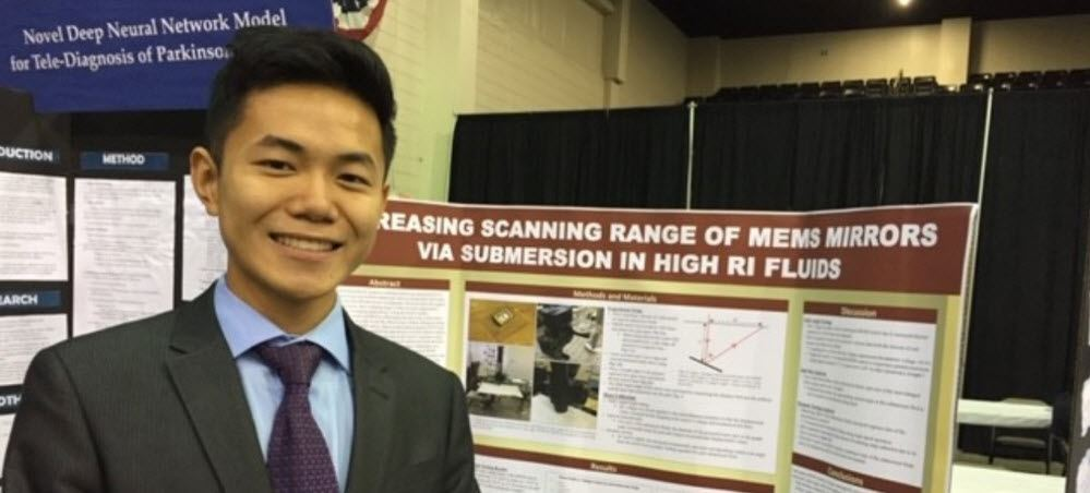 Pine View School's Kevin Zhu Places Second in State STEM Fair Engineering & Competes at Intel ISEF