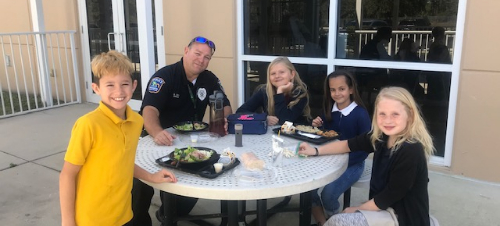 Lunchtime with Officer Roy at Lamarque