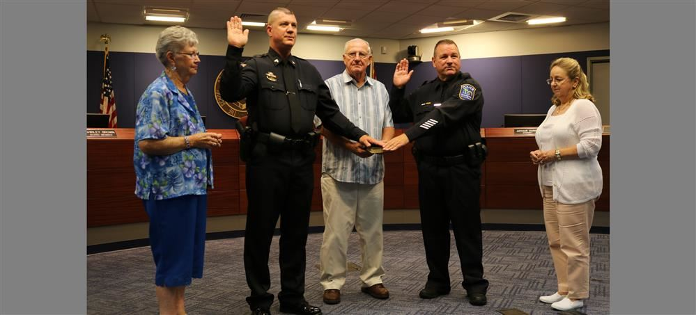 Sarasota County Schools Police Department Welcomes One Officer and One Sergeant at Oath of Office Ceremony