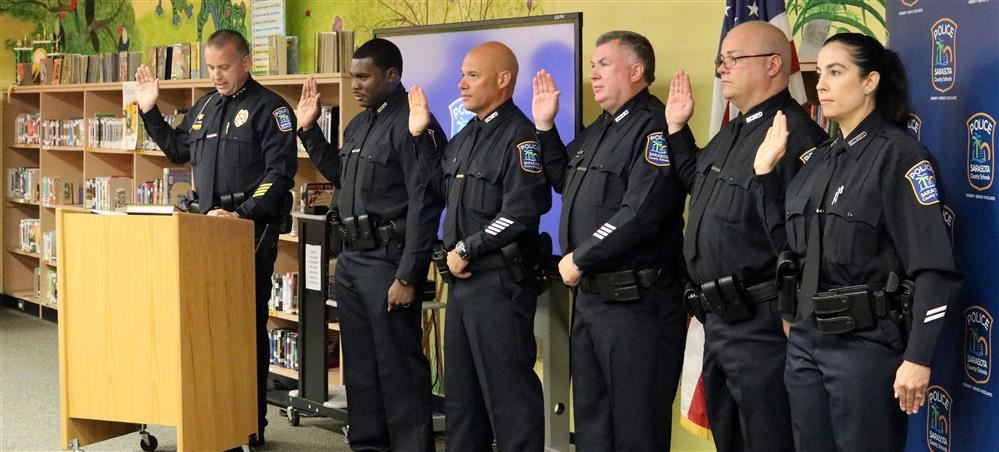 Sarasota County Schools Police Department Welcomes Six Officers at Oath of Office